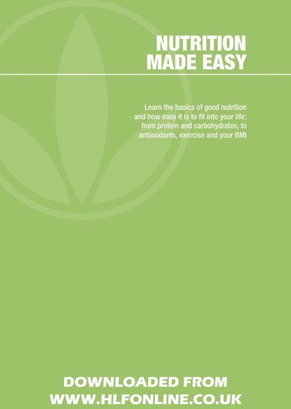 Nutrition Made Easy EBook